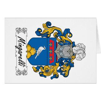 Escudo de la familia de Mingarelli Tarjeta De Felicitación