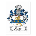 Escudo de la familia de Miniati Tarjeta Postal