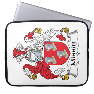 Escudo de la familia de Minnitt Fundas Ordendadores