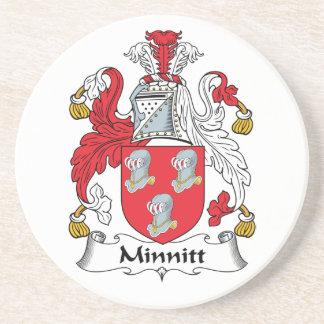 Escudo de la familia de Minnitt Posavasos Manualidades