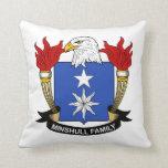 Escudo de la familia de Minshull Cojin