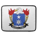 Escudo de la familia de Minshull Funda Para Macbooks