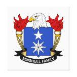Escudo de la familia de Minshull Impresión De Lienzo