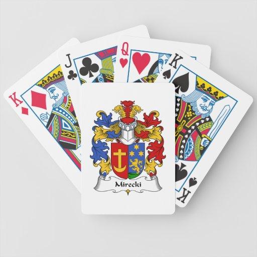 Escudo de la familia de Mirecki Baraja Cartas De Poker