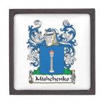 Escudo de la familia de Mishchenko Caja De Recuerdo De Calidad