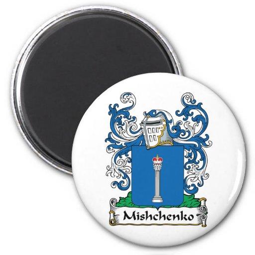 Escudo de la familia de Mishchenko Imán Redondo 5 Cm