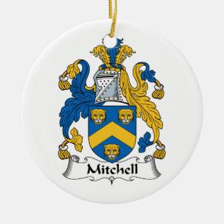 Escudo de la familia de Mitchell Ornamentos Para Reyes Magos