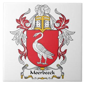 Escudo de la familia de Moerbeeck Teja Ceramica
