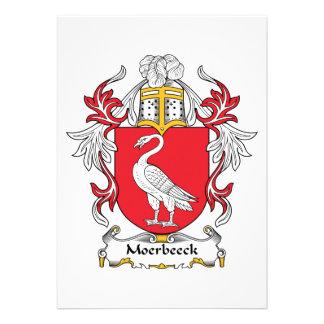 Escudo de la familia de Moerbeeck Invitación