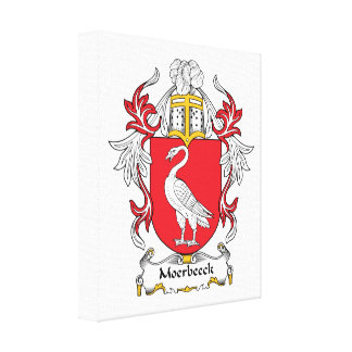 Escudo de la familia de Moerbeeck Impresiones De Lienzo