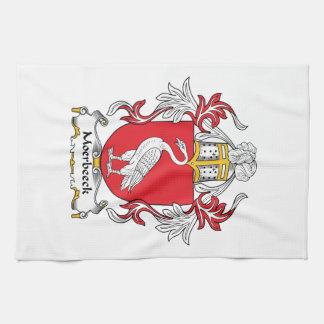 Escudo de la familia de Moerbeeck Toallas De Cocina