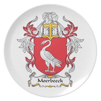 Escudo de la familia de Moerbeeck Platos Para Fiestas
