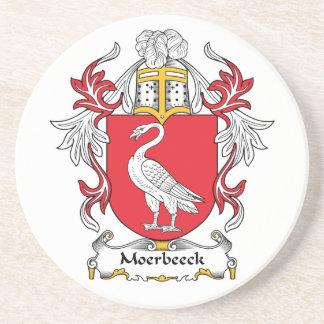 Escudo de la familia de Moerbeeck Posavaso Para Bebida