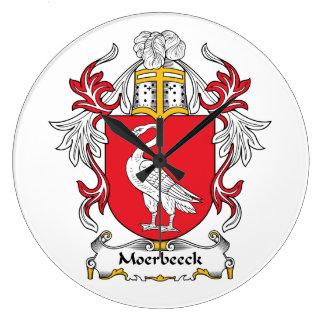 Escudo de la familia de Moerbeeck Relojes De Pared