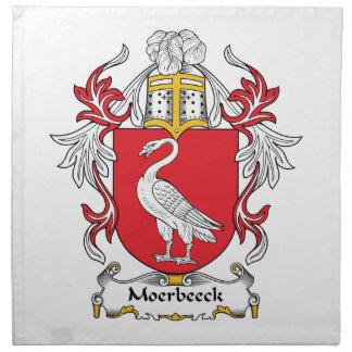 Escudo de la familia de Moerbeeck Servilleta Imprimida