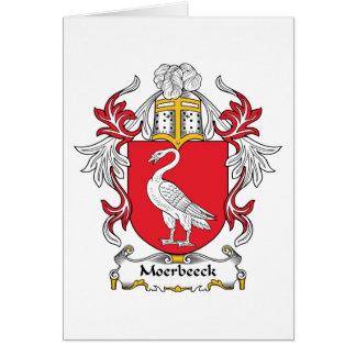 Escudo de la familia de Moerbeeck Tarjeta