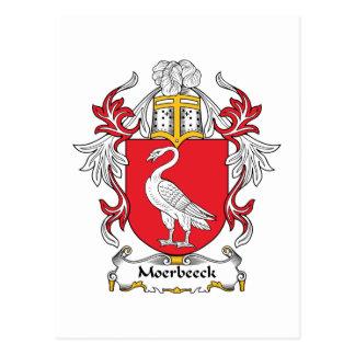 Escudo de la familia de Moerbeeck Tarjetas Postales