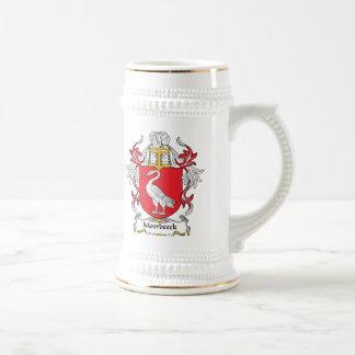 Escudo de la familia de Moerbeeck Tazas De Café