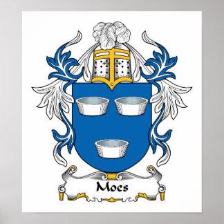 Escudo de la familia de Moes Póster