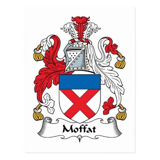 Escudo de la familia de Moffat Postal