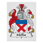 Escudo de la familia de Moffat Posters