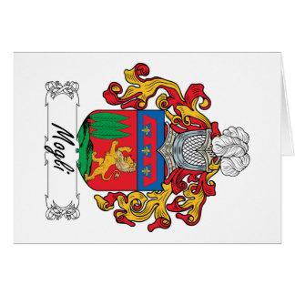 Escudo de la familia de Mogli Tarjeta De Felicitación