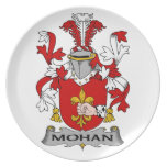 Escudo de la familia de Mohan Platos Para Fiestas