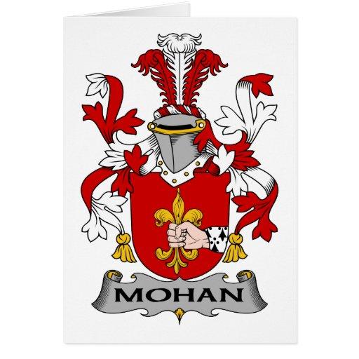 Escudo de la familia de Mohan Tarjeta De Felicitación