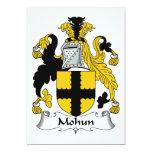 Escudo de la familia de Mohun Invitación 12,7 X 17,8 Cm
