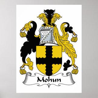 Escudo de la familia de Mohun Posters