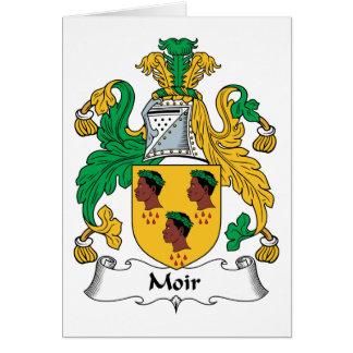 Escudo de la familia de Moir Tarjeta De Felicitación