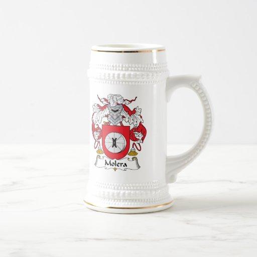 Escudo de la familia de Molera Jarra De Cerveza