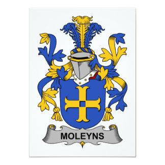 """Escudo de la familia de Moleyns Invitación 5"""" X 7"""""""