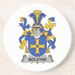 Escudo de la familia de Moleyns Posavasos Personalizados