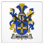 Escudo de la familia de Moleyns Reloj De Pared