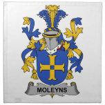 Escudo de la familia de Moleyns Servilleta Imprimida