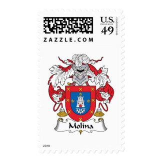 Escudo de la familia de Molina Timbres Postales