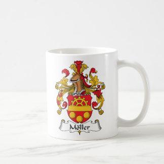 Escudo de la familia de Moller Tazas De Café