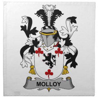 Escudo de la familia de Molloy Servilletas