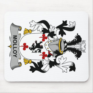Escudo de la familia de Molloy Tapetes De Ratones
