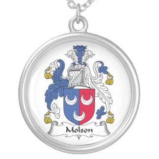 Escudo de la familia de Molson Colgante Redondo
