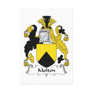 Escudo de la familia de Molton Impresion De Lienzo