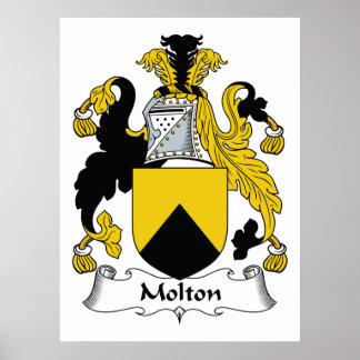 Escudo de la familia de Molton Impresiones