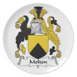 Escudo de la familia de Molton Plato De Cena