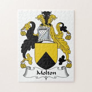 Escudo de la familia de Molton Rompecabeza Con Fotos