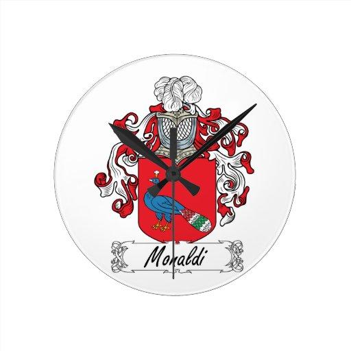 Escudo de la familia de Monaldi Relojes
