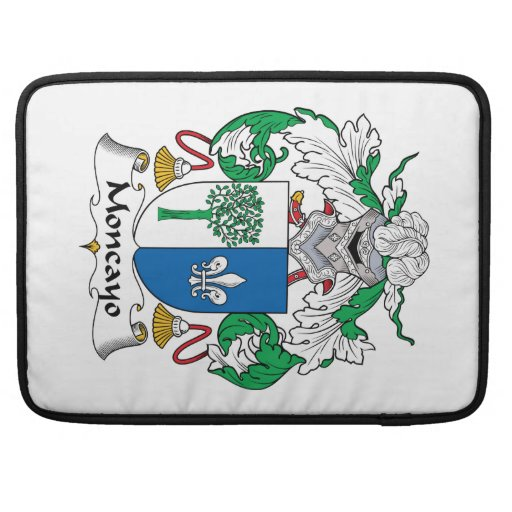 Escudo de la familia de Moncayo Funda Para Macbooks