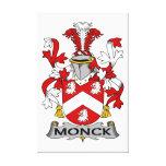 Escudo de la familia de Monck Impresión En Lienzo Estirada