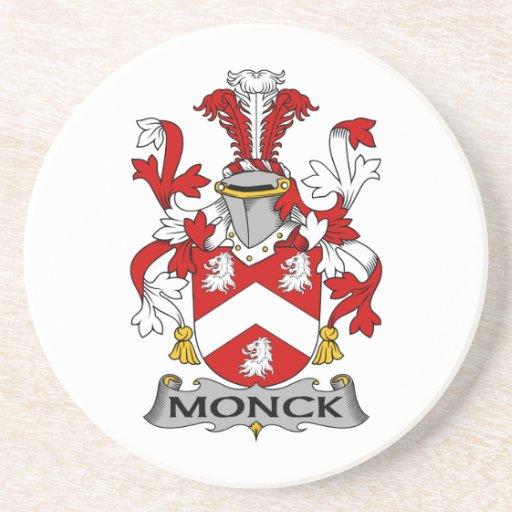 Escudo de la familia de Monck Posavaso Para Bebida