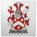 Escudo de la familia de Monck Servilleta Imprimida